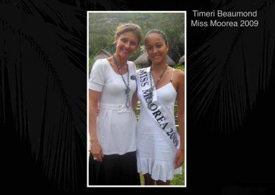 Timeri Beaumond Miss Moorea 2009